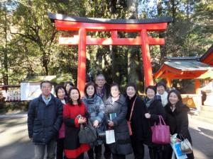 箱根神社にて