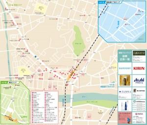 綱島グルメマップ掲載63店舗(JPEG)