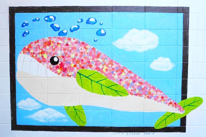 港北高校壁画