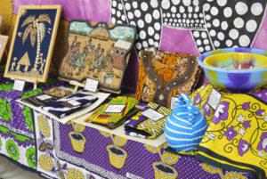 アフリカの文化展示コーナー